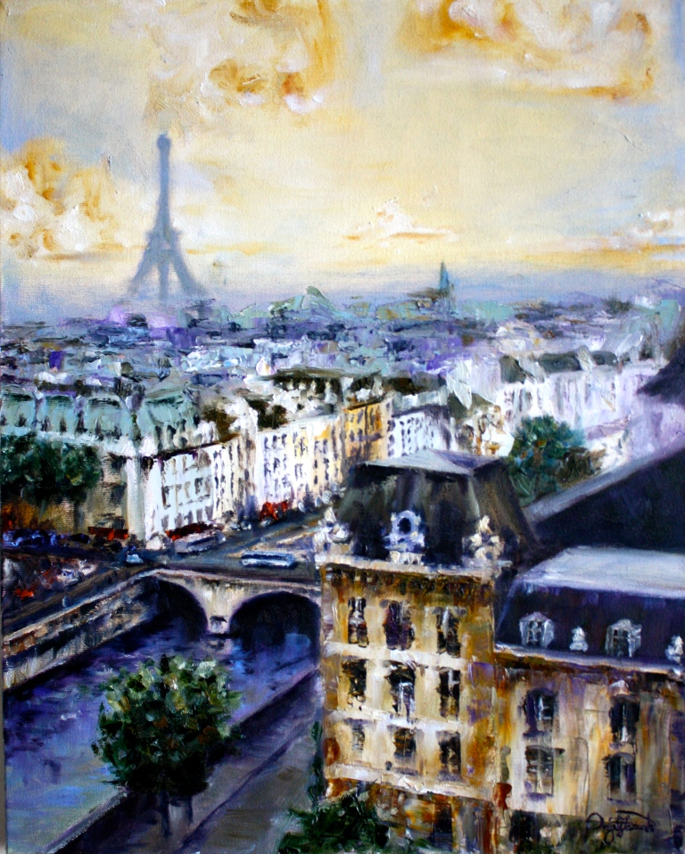 From the Spires of Notre Dame, Paris