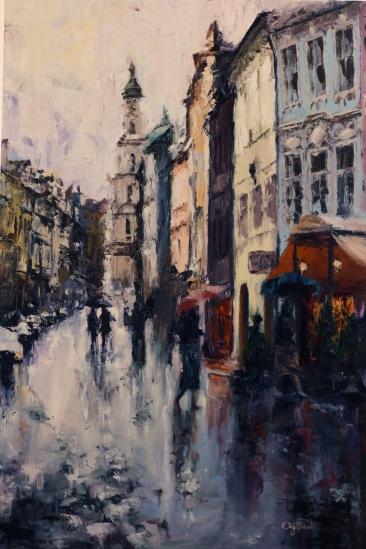Prague in the Rain