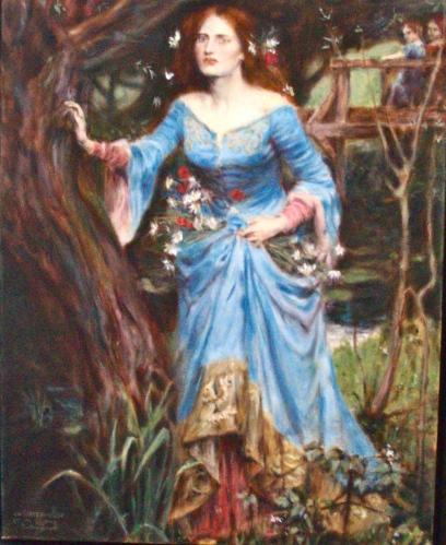 Study of J. W. Waterhouse's Ophelia